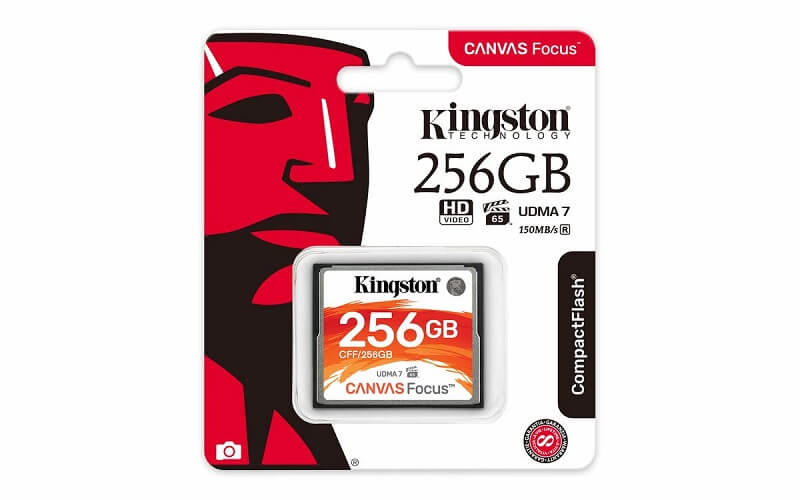 Kingston CANVAS FOCUS COMPACT FLASH 150R/130W UDMA7 VPG-65 256GB