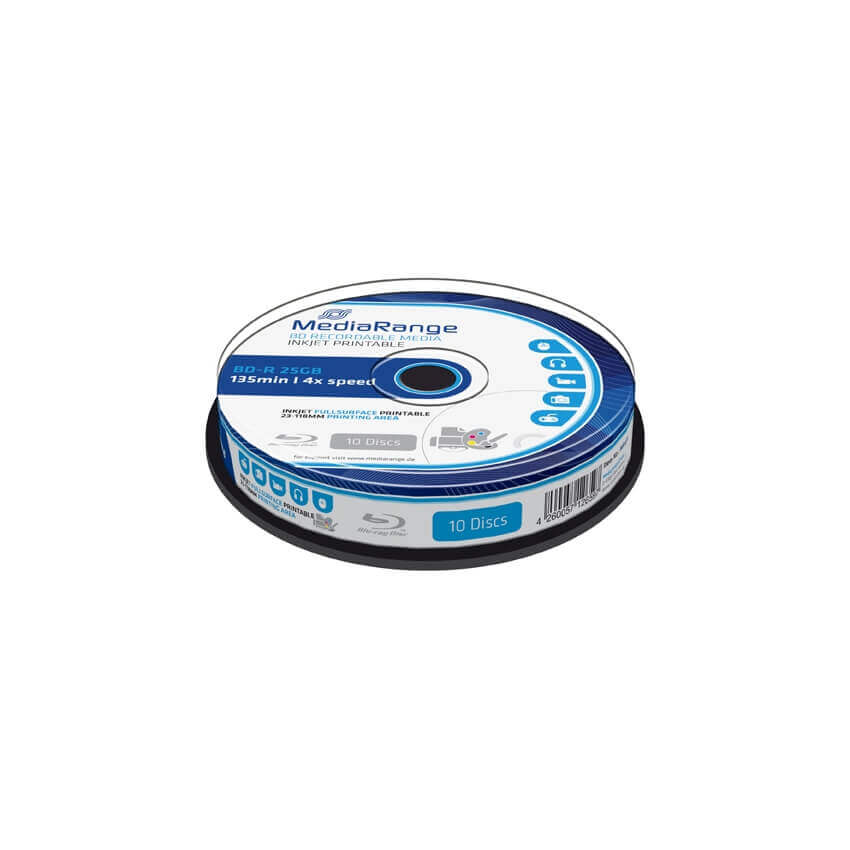 MediaRange Blu Ray BD-R 4x Printable Cake (10) /MR496/