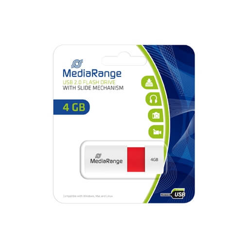 MediaRange USB 2.0 PENDRIVE COLOR EDITION 4GB PIROS MR970