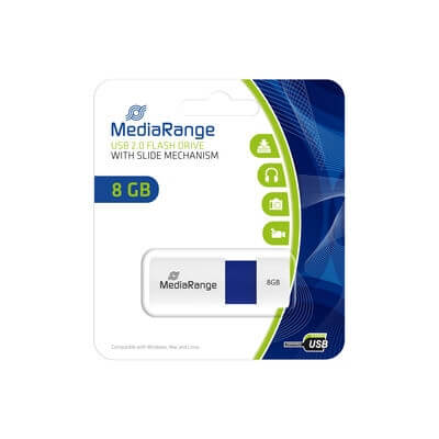 MediaRange 8GB pendrive Color E kék /MR971/