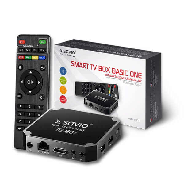 SAVIO TB-B01 BASIC ONE ANDROID 7.1 TV BOX 1GB RAM 8GB ROM 4K UHD MÉDIALEJÁTSZÓ