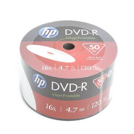 HP DVD-R 4.7GB 16X FullPrint Shrink (50)