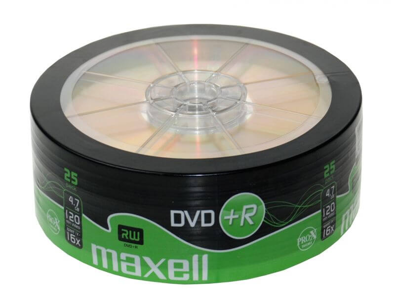 Maxell DVD+R 16x Shrink (25)