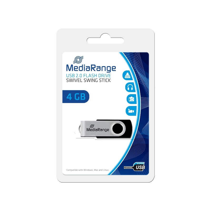 MEDIARANGE USB 2.0 PENDRIVE 4GB MR907